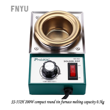 цена Pro'skit SS-552H 220V 200W stainless steel welding pot melting tin 0.5kg round tin furnace welding bath temperature 100℃-550℃ онлайн в 2017 году