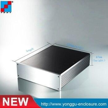 220*67-280mm(WxH-D) extruded aluminum electronic Made in China Aluminum Housing electronics design