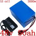48v аккумулятор 48v 50ah литий-ионный аккумулятор 48V Аккумуляторный отсек для электрического велосипеда 48V1000W 2000W 3000W аккумулятора электроскутер...