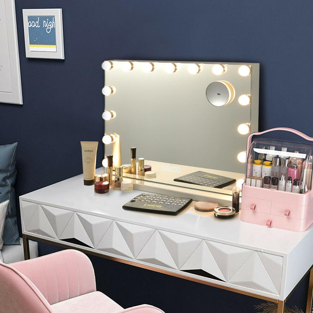 Hollywood Vanity Lighted Mirror Touch Control Magnification Bluetooth Speaker HB86948US 3