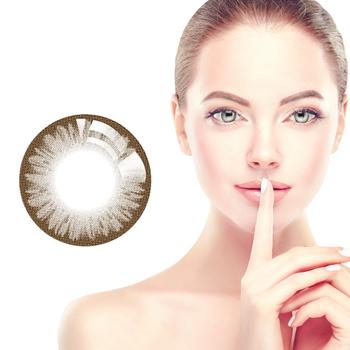 Horien kolorowe soczewki kontaktowe 5 sztuk codzienne jednorazowe kobiece piękne soczewki źrenic kolor brązowy tanie i dobre opinie NoEnName_Null CN (pochodzenie) 14 2mm Inne 0 06-0 15mm HEMA Piękne Uczeń Amelie