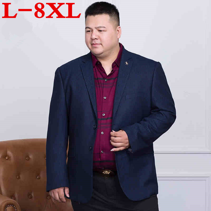 Big Size 8XL 7XL Luxury Men Blazer New Spring Fashion Brand High Quality Cotton Slim Fit Men Suit Terno Masculino Blazers Men