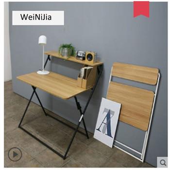 Składane biurko biurko przenośne proste biurko domowe biurko do nauki mały stół składany komputer biurko tanie i dobre opinie HCZ06 Biurko komputerowe Meble szkolne Meble sklepowe