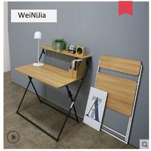 Składane biurko biurko przenośne proste biurko domowe biurko do nauki mały stół składany komputer biurko tanie tanio HCZ06 Biurko komputerowe Meble szkolne Meble sklepowe
