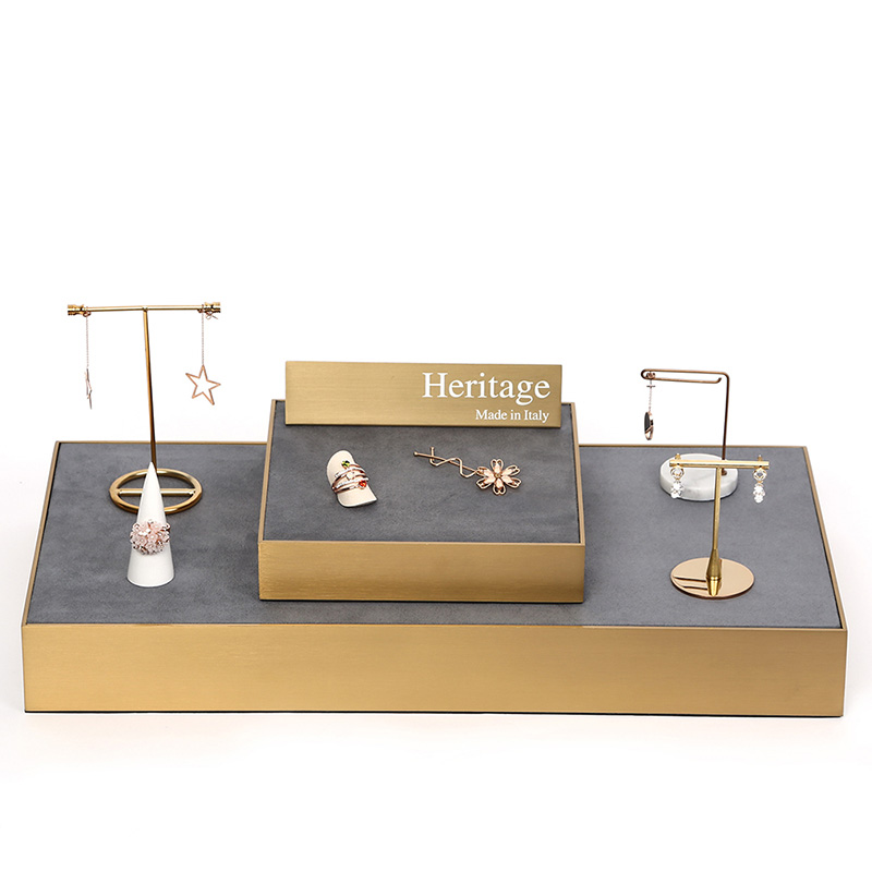Jewelry Display Trays Earring Display Stand Jewelry Organizer Tray Marble Earring Stand