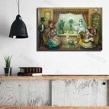 Nordic мультфильм Wall Art плакат солнцезащитных плакат абстрактного искусства Марк Райден для милых девочек Семья вечерние фотографии и отпечат...