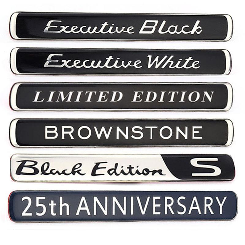 Автомобильные наклейки, эмблема автомобиля, наклейка Brownstone Expression, белый, черный, ограниченная серия, для BMW, Audi, Ford, Nissan, Jeep, Toyota, Skoda