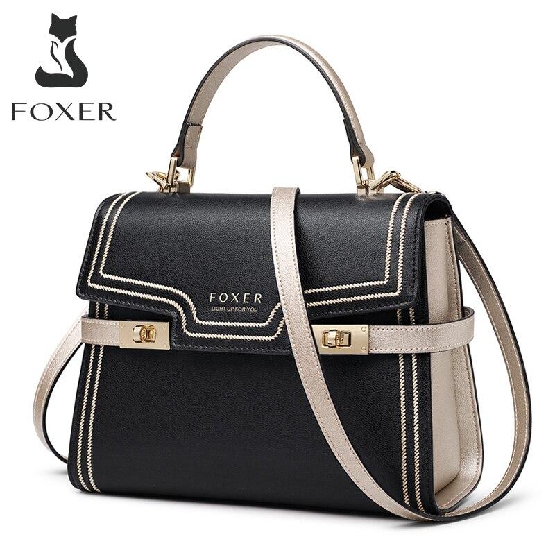 FOXER Women Crossbody Shoulder Bags Large Capacity Leather Messenger Bag Female Luxury Purse Stylish Lady Medium Handbag Totes|Top-Handle Bags| - AliExpress