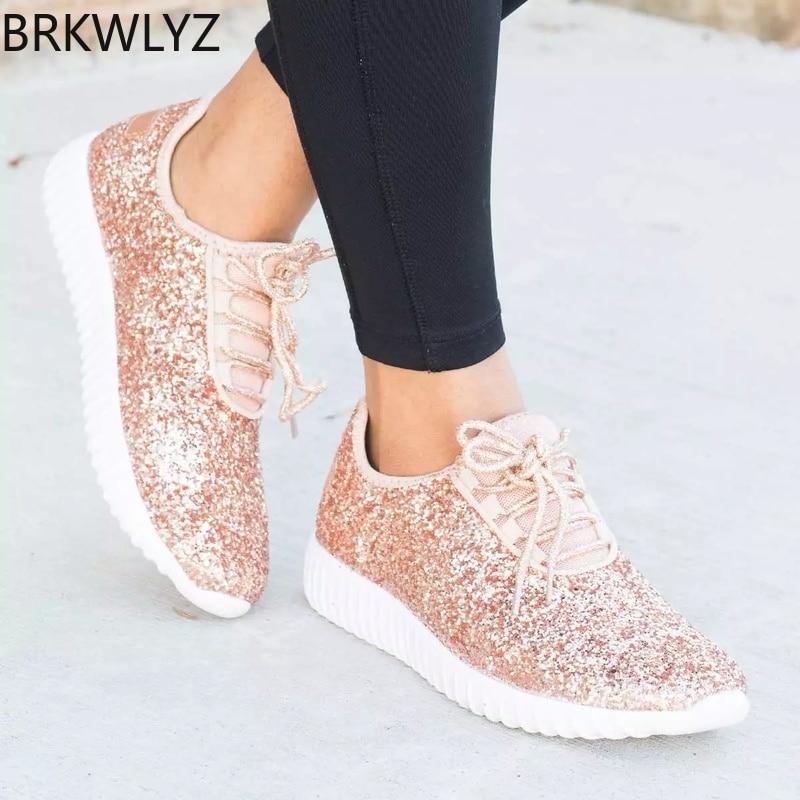 Fashion Gold Silver Shoes Women Glitter
