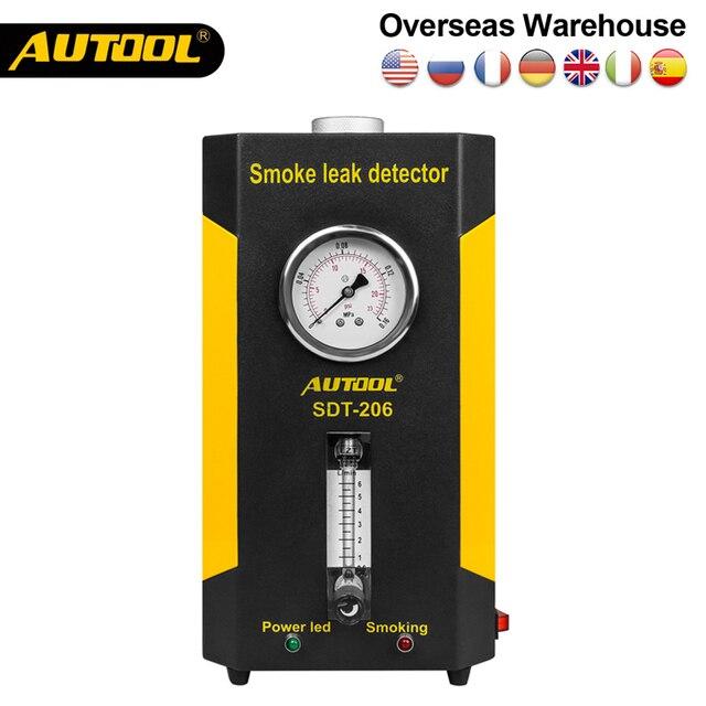 Original AUTOOL SDT 206 Automobile Smoke Generator for Cars Leak Locator Smoke Machine Car Leak Detector Auto Pipe Diagnostic