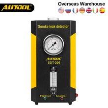 Oryginalny AUTOOL SDT 206 samochodowy Generator dymu dla samochodów lokalizator nieszczelności maszyna do dymu wyciek samochodu detektor Auto diagnostyka rur