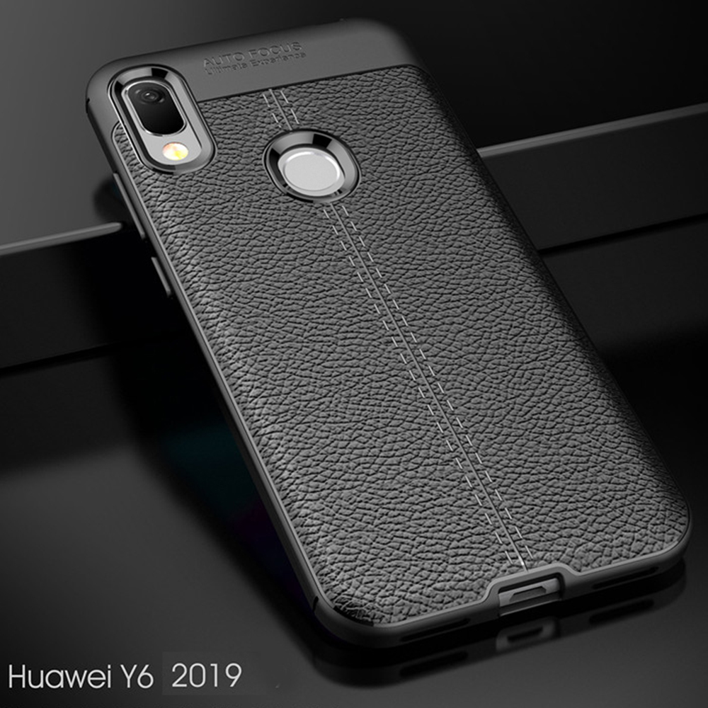For <font><b>Huawei</b></font> <font><b>Y6</b></font> Y9 <font><b>2019</b></font> <font><b>Case</b></font> leather Style <font><b>Cover</b></font> Durable TPU Phone <font><b>Case</b></font> For <font><b>Huawei</b></font> Y 6 Pro Y 9 <font><b>2019</b></font> <font><b>Cover</b></font> Shockproof Flex Bumper image