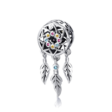 XiaoJing 100% 925 Sterling Silver Dreamcatcher Beads Charm Fit Original Bracelet Jewelry Gift for Women free shipping