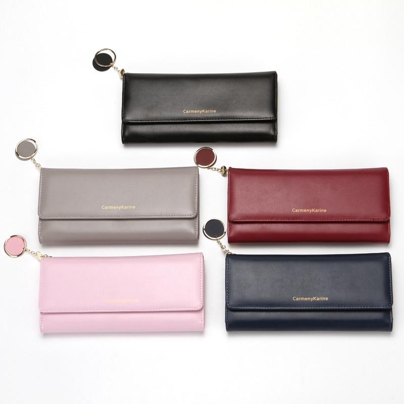 Women Wallets Fashion Lady Leather Handbags Long Money Bag Zipper Coin Purse Cards ID Holder Clutch Woman Wallet Burse Notecase