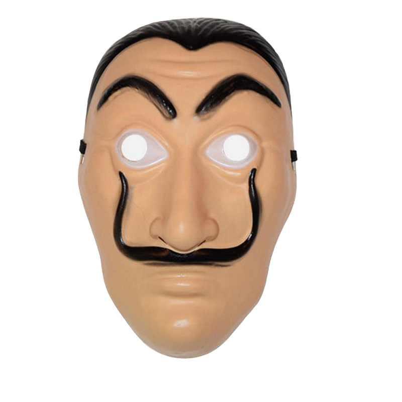 Salvador Dali Film La casa di Carta La casa de papel Stagione 3 Cosplay Del Partito di Halloween Maschera di Denaro Rapina Costume E Viso Maschera