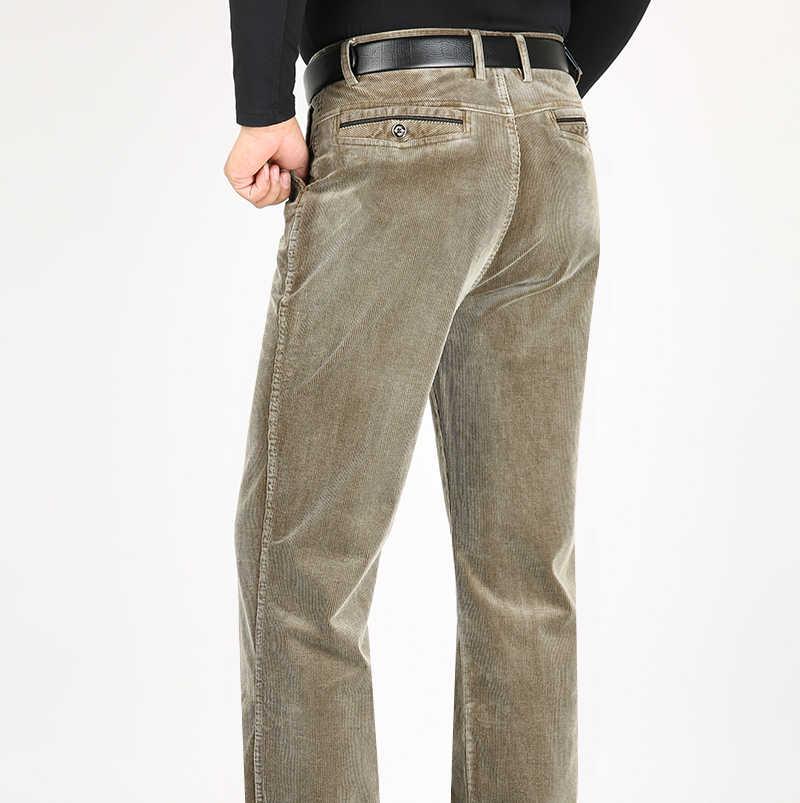 Icsars Pantalones Informales De Pana Para Hombre Pantalones Gruesos De Algodon Rectos Y Sueltos De Longitud Completa Para Otono E Invierno Pantalones Informales Aliexpress