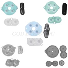 Botões condutores de borracha controladores de substituição botão de contato A-B d-pad para game boy clássico gb gbc gbp gba sp silicone iniciar