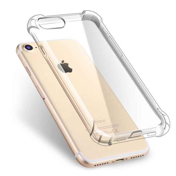 1pcs Transparante Case voor iPhone 11 pro XS Max XR 5 5s SE 6 6s 7 8 plus X iX Case Coque Anti Klop Clear TPU Silicone Cover Bag