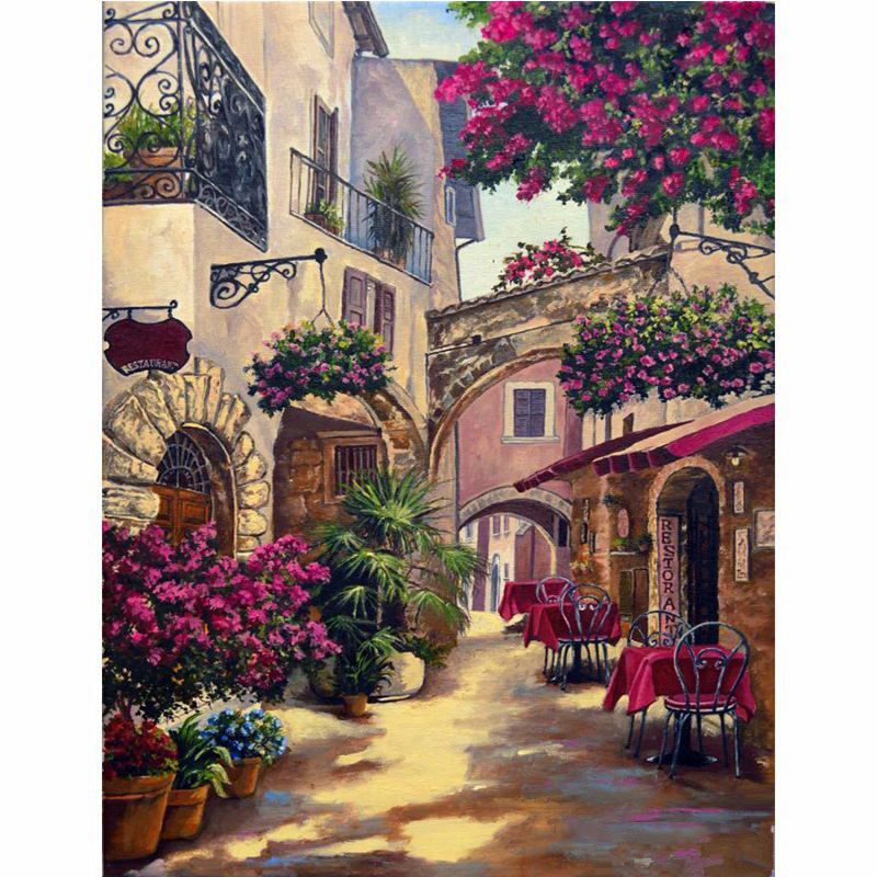 Wall Art Picture DIY Painting By Numbers For Adult Gift Digital Oil Draw On Canvas Coloring By Numbers Modern Home Wedding Decor