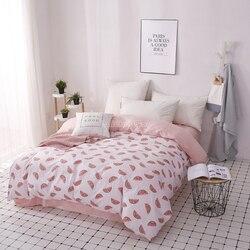 Lato z nadrukiem arbuza kołdra okładka ins stylowe miękkie ciepłe łóżko dla dorosłych rodzina kapa na kołdrę poszewka pierzyna podwójne  pełne Queen duży rozmiar w Kołdra od Dom i ogród na