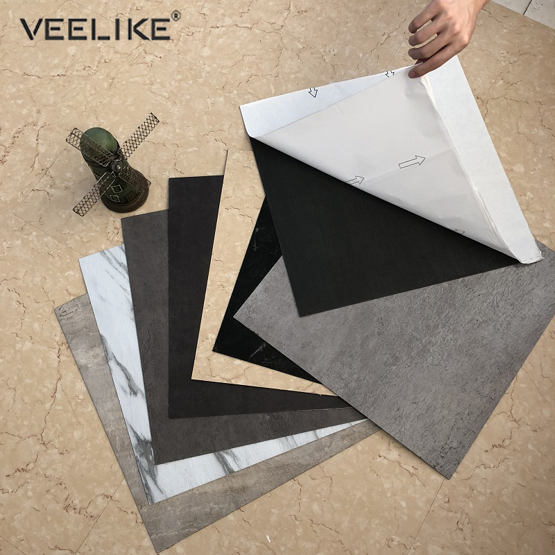 Self Adhesive PVC Ceramic Tile Stickers Waterproof Wallpaper Art Floor Stickers Kitchen Decorative Film DIY Ground Contact Paper