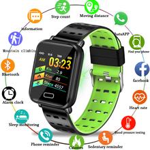 LIGE 2019 nowych smart watch do fitnessu mężczyźni kobiety wodoodporna sport smart watch Monitor tętna Fitness Tracker dla androida IOS + pudełko tanie tanio Android OS 128 MB Passometer Uśpienia tracker Wiadomość przypomnienie Przypomnienie połączeń Pilot zdalnego sterowania