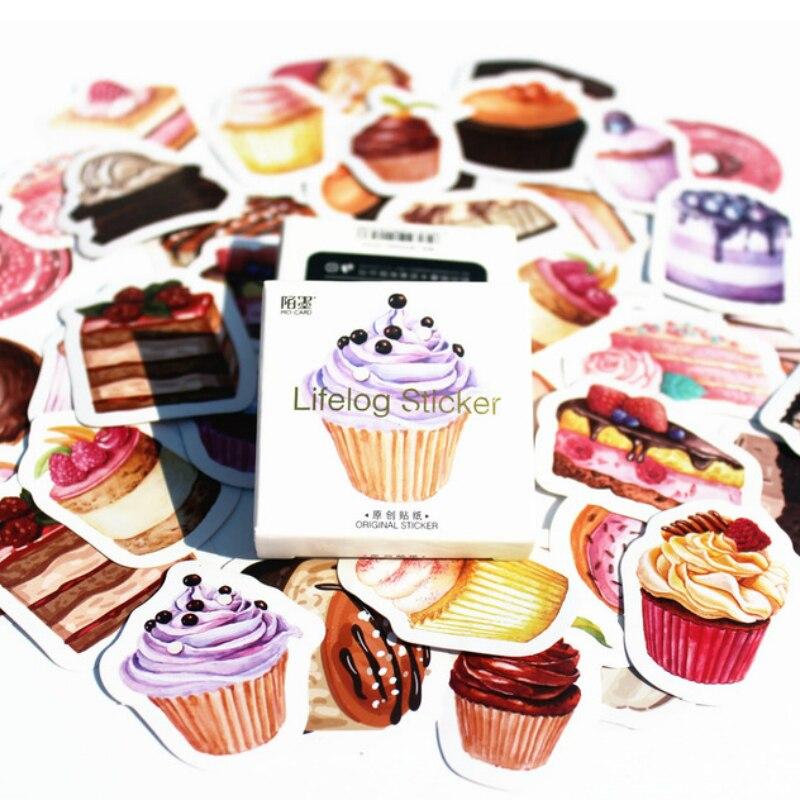 40 шт., с днем рождения, фиолетовые наклейки для торта, упаковка, отправлено в Kawaii, планировщик для скрапбукинга, Канцтовары, школьные принадл...