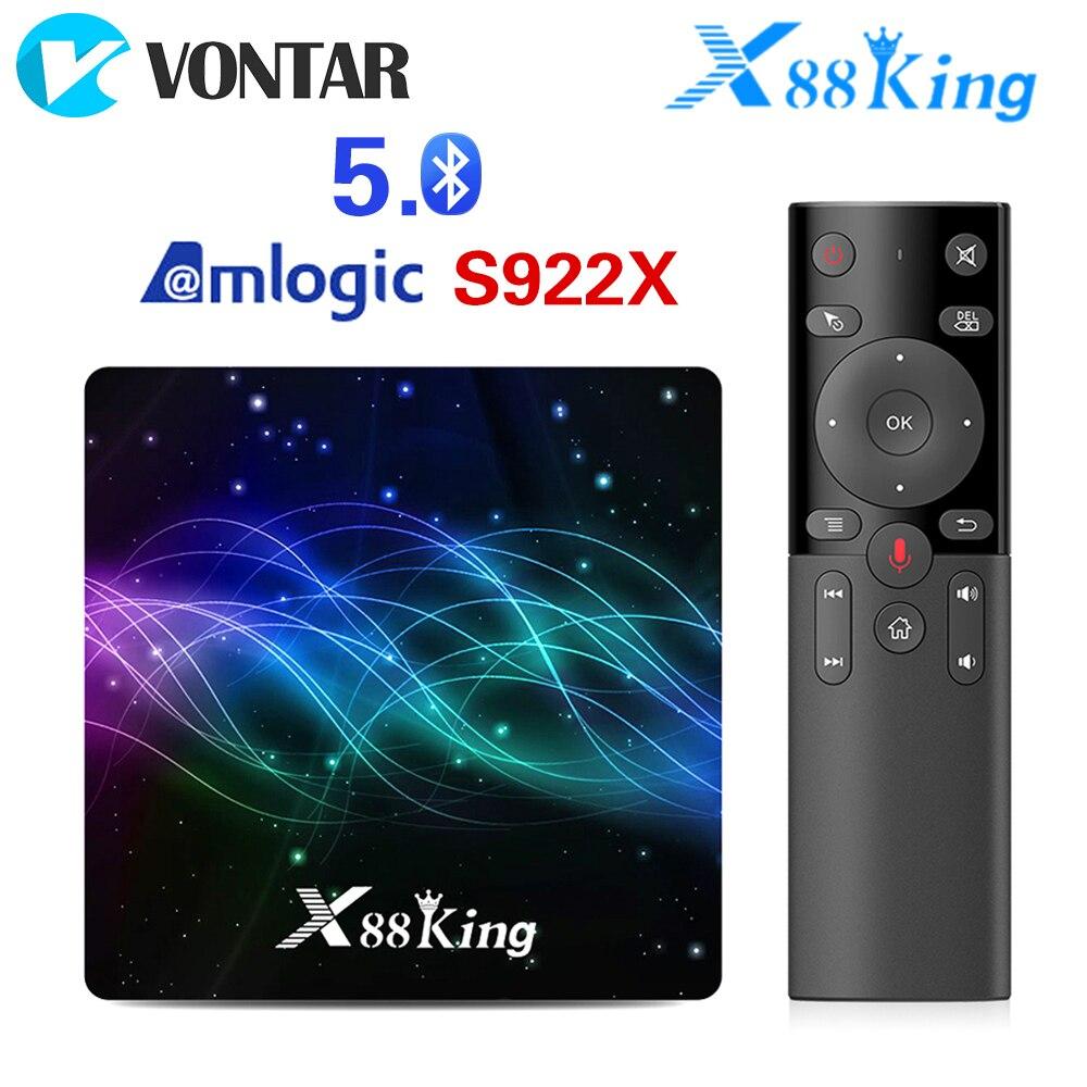 X88 König 4GB 128G Amlogic S922X TV Box Android 9,0 Dual Wifi BT 5,0 1000M 4K google Play Store Netflix Youtube 4K Media Player