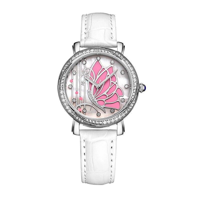 BUREI 3019 suisse montre femmes marque de luxe diamant autrichien mouvement japonais papillon dames ceinture quartz montre