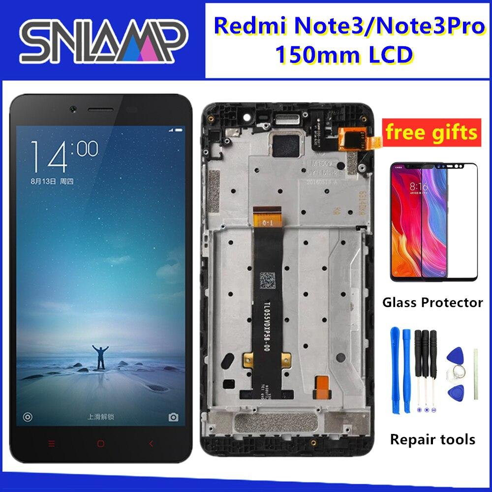 """5.5 """"affichage Original pour Xiaomi Redmi Note 3 LCD écran tactile numériseur accessoire + cadre pour Redmi Note 3 Pro écran LCD 150mm"""