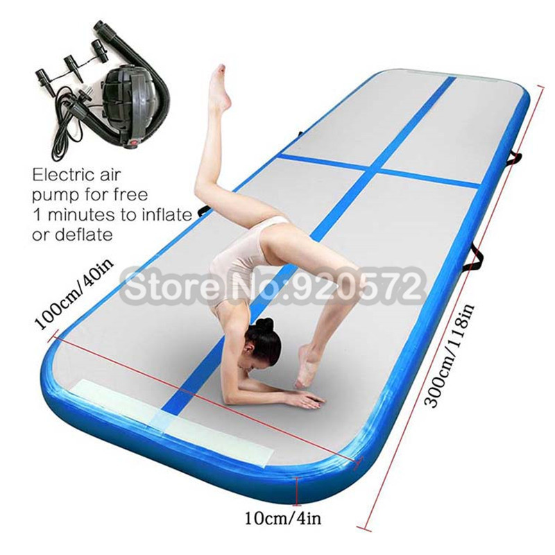 Free Shipping 2m 3m 4m Inflatable Gymnastic Mattress Gym Tumble Air Track Floor Tumbling Air Track Mat For Adult Or Child