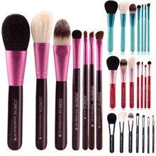 7 шт. набор мягких натуральных кистей для макияжа из козьего волоса набор кистей для макияжа набор косметических кистей для растушевки тени для глаз тональный инструмент 4 типа