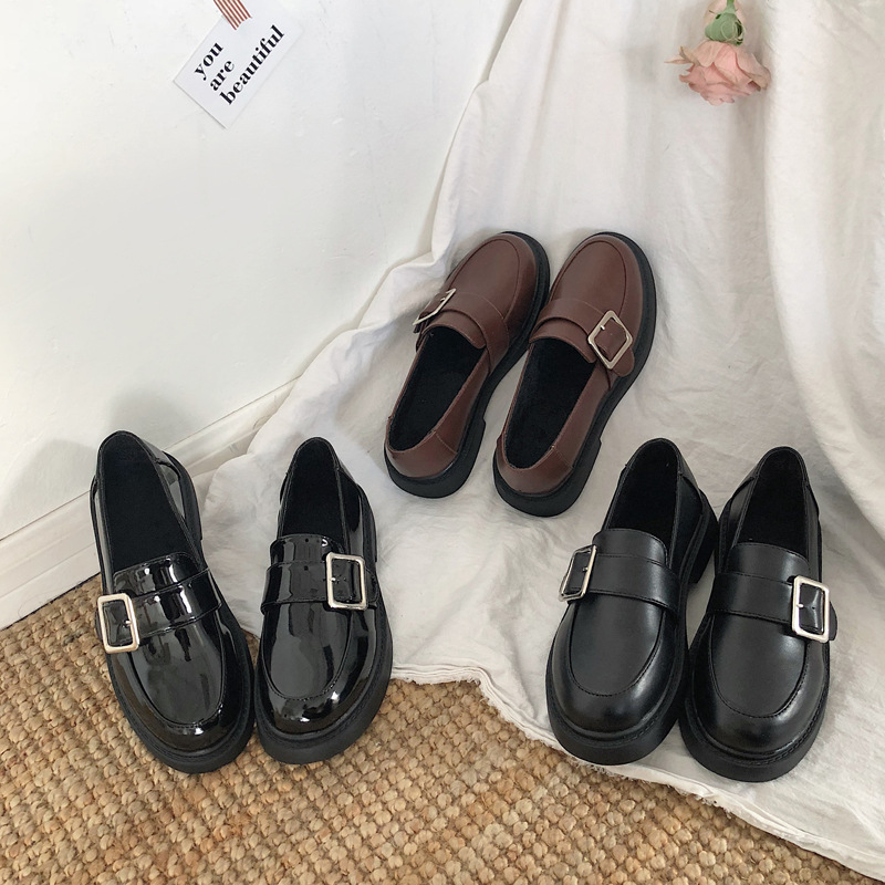 2019 New Arrival Shoes Woman Genuine Leather Women Flats Slip On Women's Loafers Female Moccasins Shoe Plus Size 35-39 CZ-35