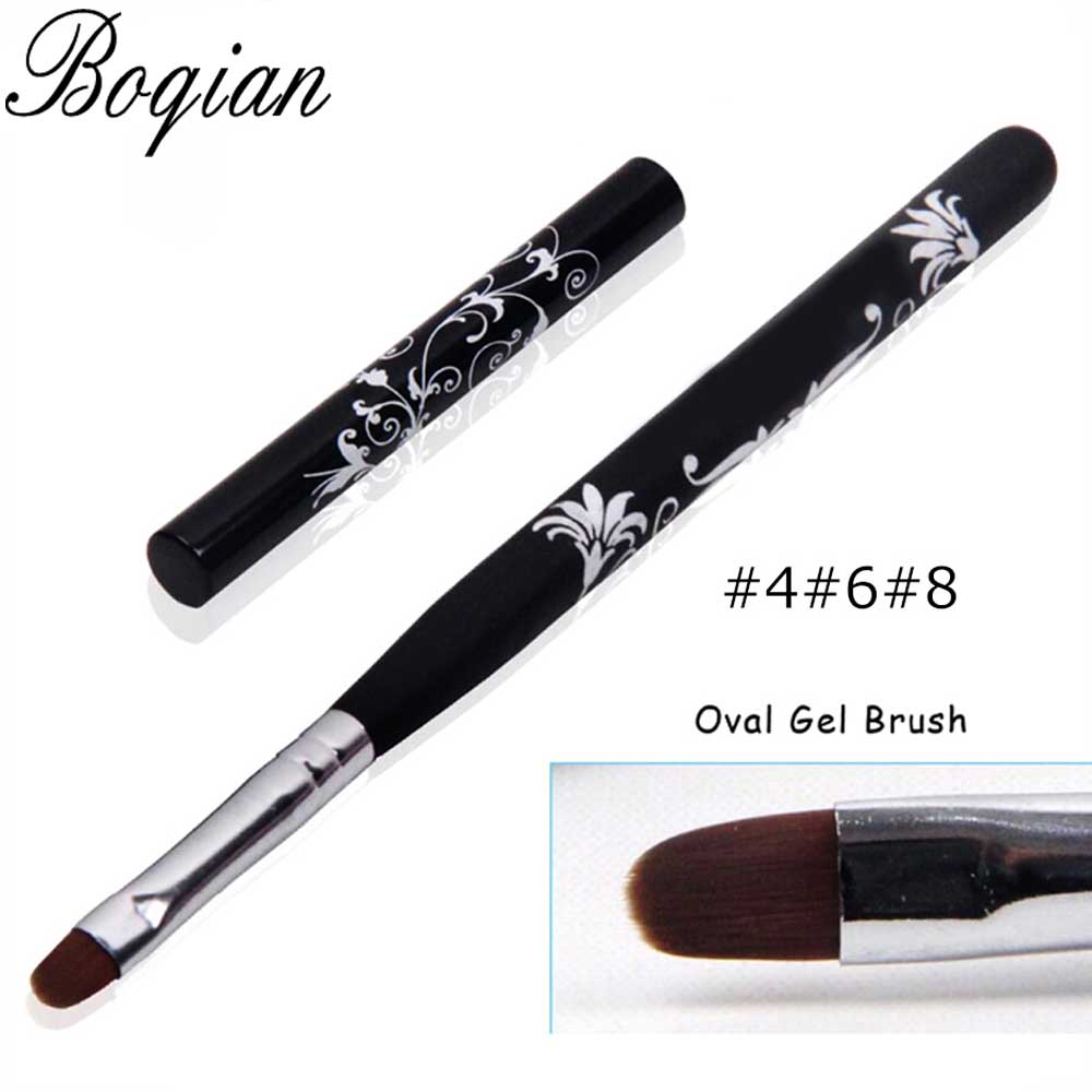 BQAN 4#6#8#10# Gel Brush Nail Acrylic Brush Poly UV Gel Extension Builder Drawing Painting Pen Manicure Tool