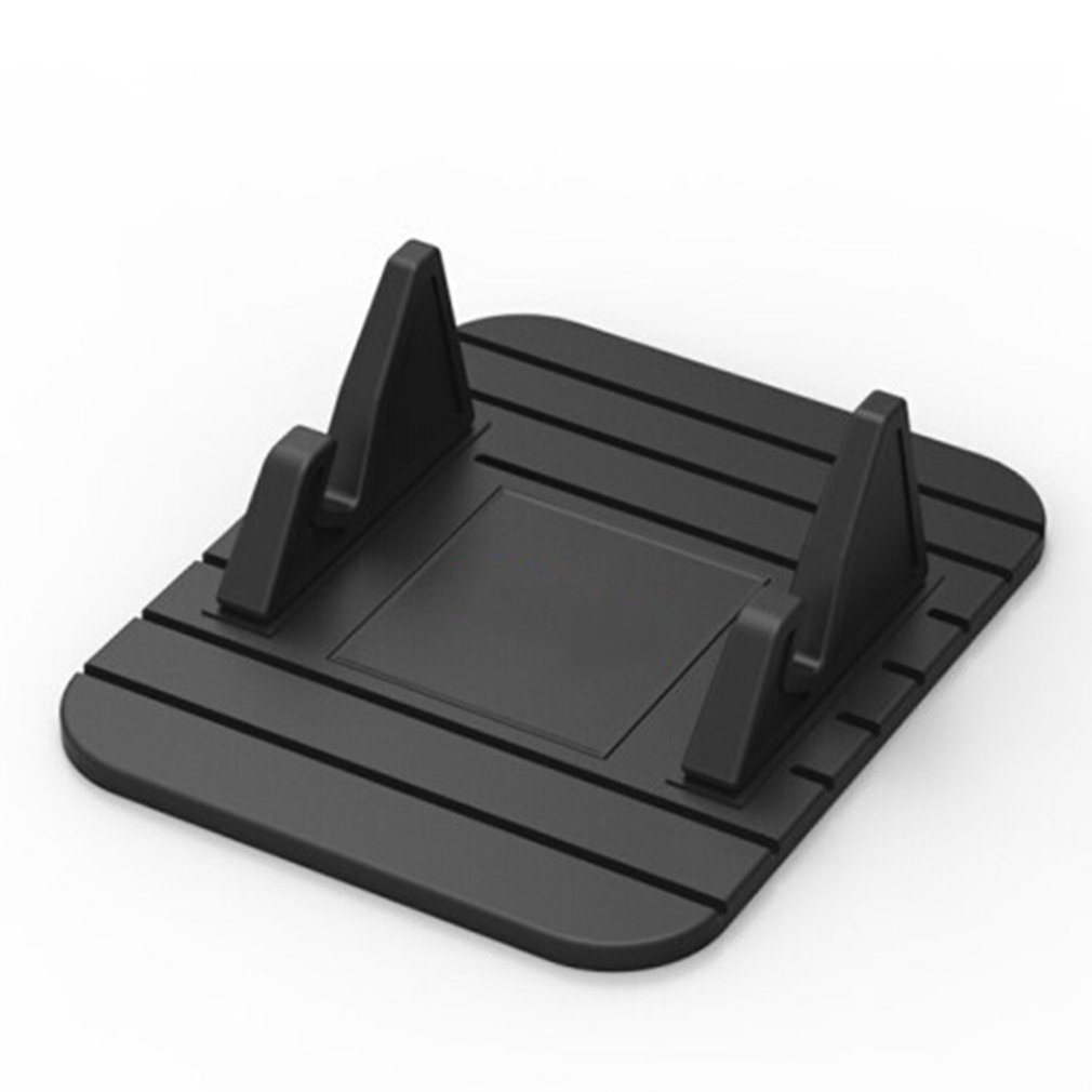 Soft Silicone Mobile Phone Holder Car Dashboard GPS Anti Slip Mat Desktop Stand Bracket for iPhone XS Xr Samsung Tablet image
