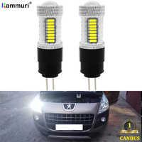 2Pcs white 6000K No error Hp24w G4 12v led bulb for Citroen c5 and peugeot 3008 2010 2011 2012 LED DRL Daytime Running Lights