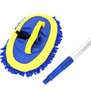 Image 5 - Cepillo de lavado de coches telescópico de mango largo, mopa de limpieza, cepillo de limpieza de coche, escoba de chenilla, accesorios para automóviles