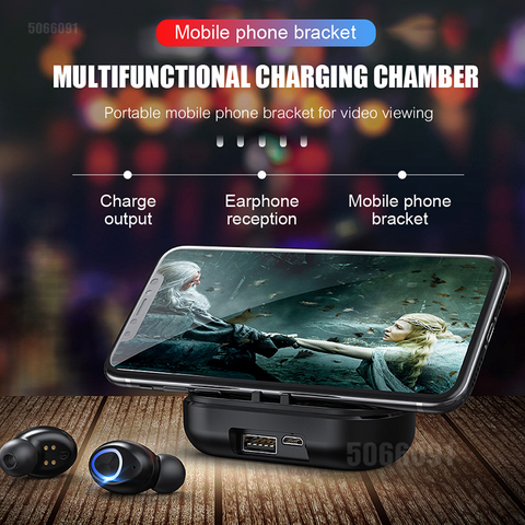 TWS Bluetooth Earphone With Microphone LED Display Wireless Bluetooth Headphones Earphones Waterproof Noise Cancelling Headsets Karachi