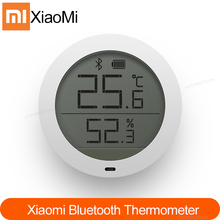 Original 샤오미 Mijia Bluetooth Hygrothermograph Mijia app와 함께 고감도 LCD 스크린 습도계 온도계 센서 사용
