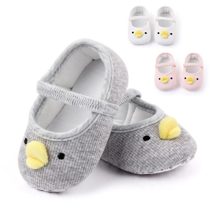 Newborn Toddler Baby Boys Girls Yellow Duck Crib Shoes Infant Cartoon Soft Sole Non-slip Cute Warm Animal Baby Shoess L