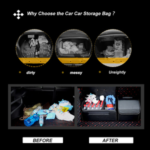 Image 2 - Car Storage Bag PU Leather Trunk Folding Car Storage Stowing Tidying Auto Trunk Box Organizer Car Accessories