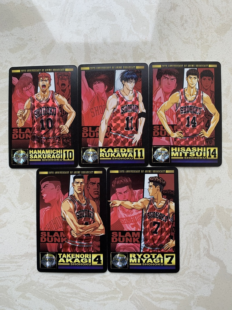 5pcs/set Slam Dunk Basketball Flying Man Fight No. 1 Childhood Memories Toys Hobbies Collectibles Game Collection Anime Cards