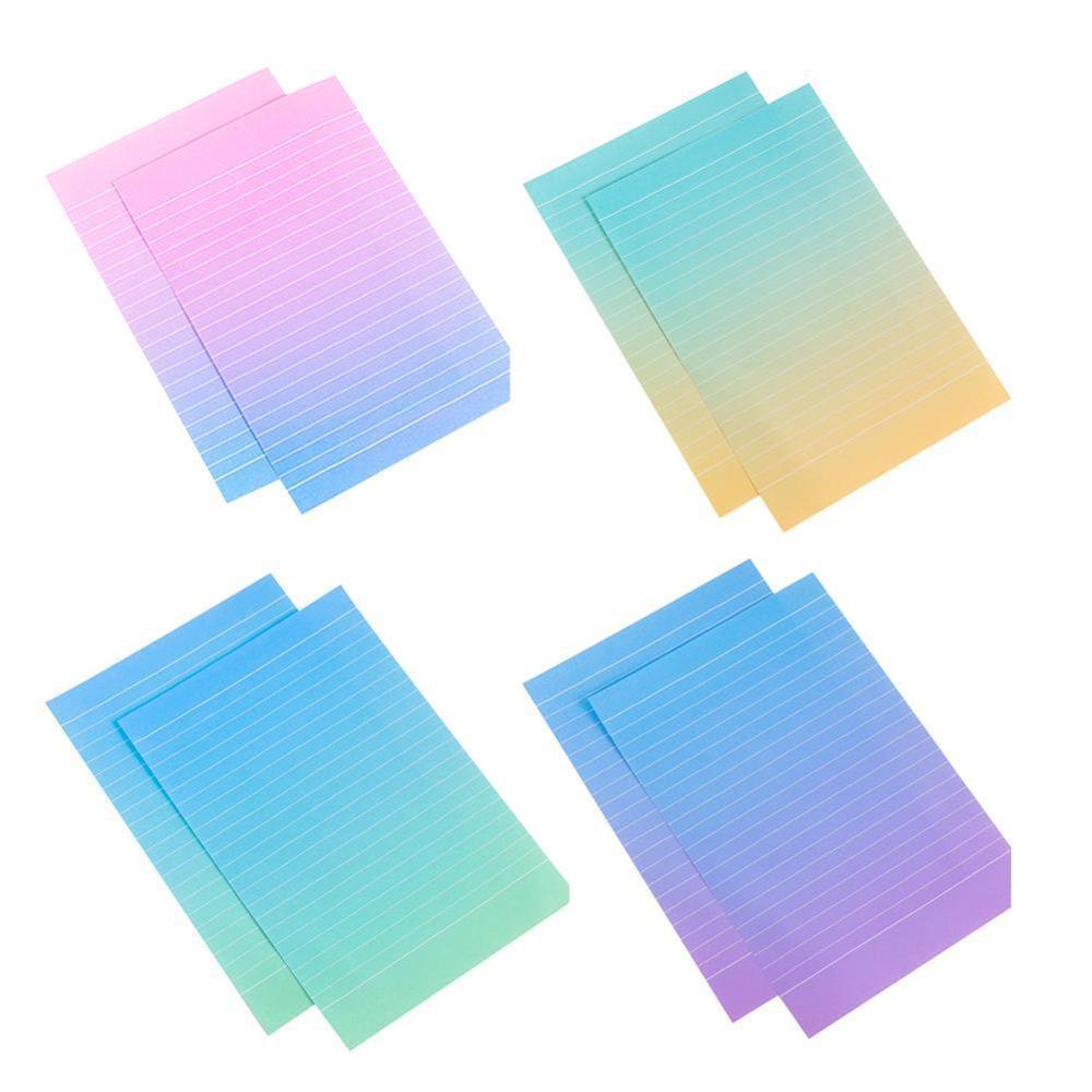 1set=(4 Sheet Letter Paper 2pcs Envelopes) Gradient Writing Set/set Paper Color Pad Office Letter Students Gift L1B4