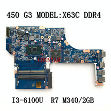 Mainboard Probook M340 I3-6100U R7 2GB for HP 450/g3 Laptop Dax63cmb6c0/Mainboard/100%tested