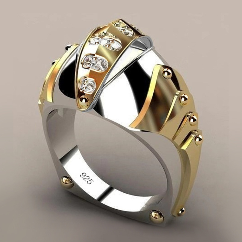 2019 New Mechanical Style Fish Mouth Shape Gold Siver Color Ring For Women/men Wedding Engagement Party Gift Fashion Jewelry