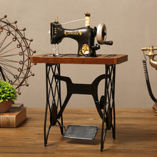 Classical Foot Sewing Machine Wrought Iron Model Mini Home Hand-operated Sewing Machine Photography Props Antique Nostalgia
