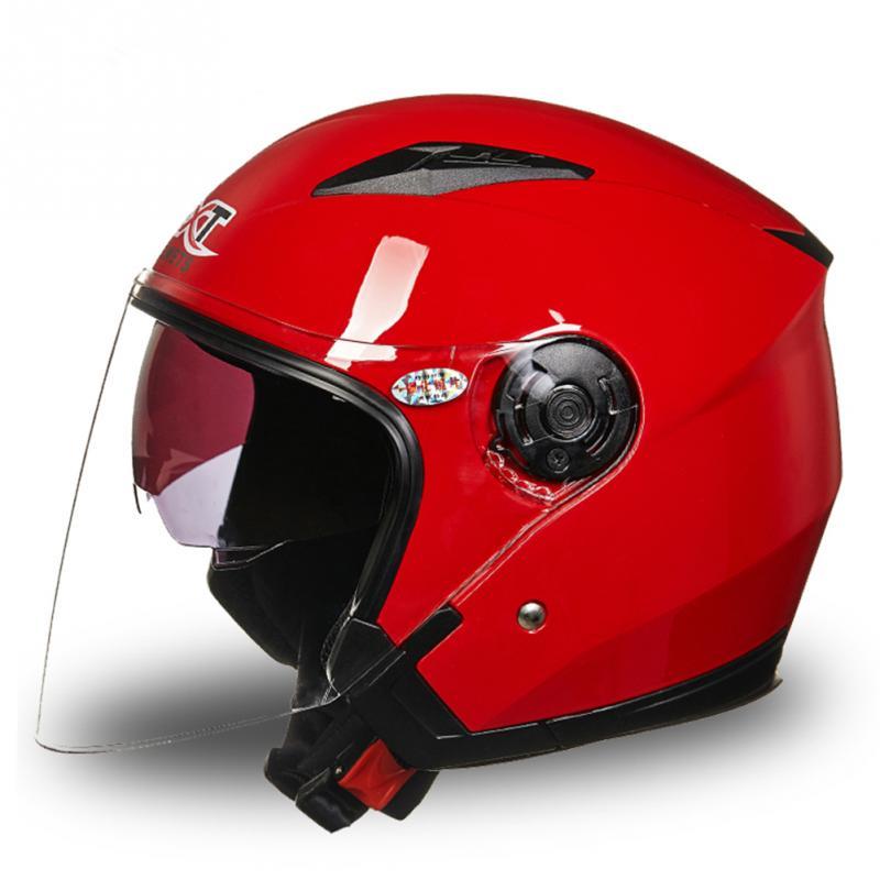 Männer Frauen Motorrad Helm Full Face Anti-Uv Einfach Tragen Electrombile Motorrad Rennrad Pinlock Doppel Visiere Helm L, XL