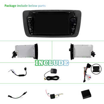 4G 64G Android 9.0 2 din Car multimedia DVD player Stereo for Seat Ibiza auto Radio fm GPS navigation wifi Steering wheel BT DAB