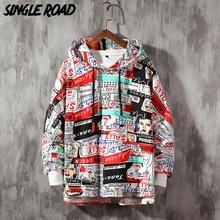 SingleRoad мужские толстовки с капюшоном 2020 Весна негабаритная Японская уличная одежда толстовка хип хоп Harajuku толстовки мужские Аниме толстовки