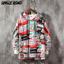 SingleRoad sweat shirt printemps pour hommes, Streetwear japonais, surdimensionné, style Hip Hop, Harajuku, pulls à capuche pour hommes, 2020